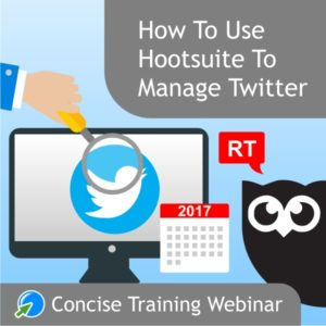 Hootsuite to manage Twitter